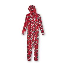 1X Plus Size Womens Disney Mickey Mouse One Piece Fleece Zip Up Pajamas Footed