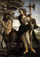 "Dream-art Oil painting Sandro Botticelli - Pallas and the Centaur on canvas 36"""