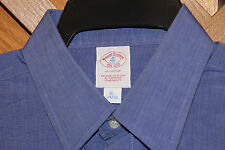 VINTAGE BROOKS BROTHERS EST1818 CLASSIS BLUE SHIRT SIZE 16-34/35  MADE IN USA