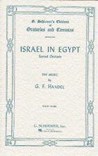 Handel Israele in Egitto VOCAL SCORE imparare cantare classica Choral VOCE MUSICA LIBRO