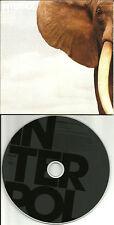 INTERPOL mammoth w/ RARE RADIO MIX made in UK PROMO DJ CD Single 2007 USA SELLER