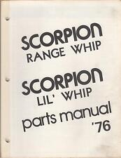 1976 SCORPION SNOWMOBILE RANGE WHIP & LIL' WHIP PARTS  MANUAL