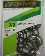 OWNER SSW CIRCLE HOOK SALTWATER BIG GAME SUPER NEEDLE POINT 5378-171 7/0 QTY 32