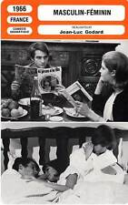 FICHE CINEMA : MASCULIN FEMININ - Léaud,Goya,Jobert,Godard 1966