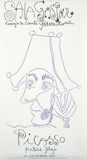 Original Vintage Poster Picasso Exhibition Barcelona 1971 Spain