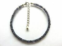 Iolith Wassersaphir facettiert Armband 19,5-23 cm 925 Silber 6028