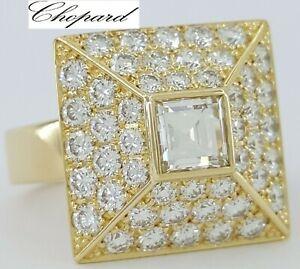 CHOPARD 2.28 ct 18K Yellow Gold Square & Round Diamond Square Fashion Ring
