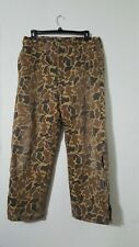 Vintage Woolrich tan Camouflage padded Hunting Pants Large