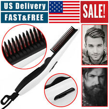 Beard Straightener Comb Quick Heated Brush Styler For Mens Pro Hair Electric