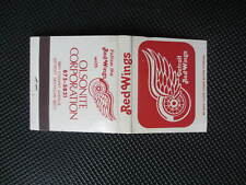 1975-76 NHL Detroit Red Wings Schedule / Home Games Olsonite Corp Matchbook