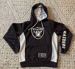 Boys Kids Majestic Oakland Raiders NFL Football Hoodie Sweatshirt Small / CH / P
