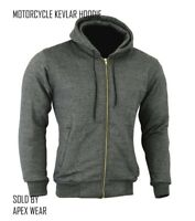 Motorcycle Mens Hoodie Made With Kevlar  Hoodie Full Protective Armoured Hood