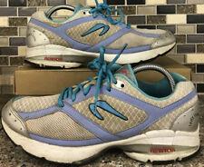 NEWTON 011612 Women's Newton Lady Isaac Running Shoes Gray Blue White Size 10.5