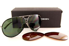 New Porsche Design Sunglasses P8478 8478 C Gunmetal SZ 63 Interchangeable Lenses
