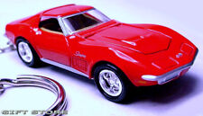 RARE!! KEY CHAIN 69/1968/1969/1970 RED CHEVY CORVETTE STINGRAY C3 NEW CUSTOM LTD