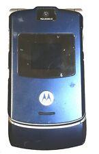 Motorola Razr V3 2G Locked To Att Phone with Camera Blue For Parts Only