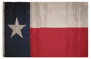 4x6 Embroidered Sewn State of Texas Nylon Flag 4'x6' Banner Clips
