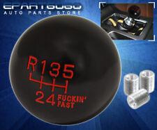Universal Jdm Vip Euro M8 M10 M12 Adapter 6 Speed Ball Type Screw On Shift Knob