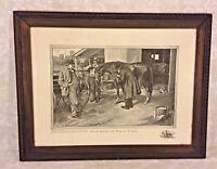 Ant Print of a Horse Sale Scene Deacon Perkins & David Harum 1904 by Grunwald
