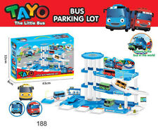 NEW 1 SET THE LITTLE BUS TAYO Parking Lot Toys With Two CAR Child's Gift Toys