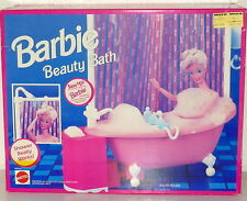 Barbie 1990s Furniture Doll House Ball Claw Foot Bathtub BEAUTY BATH NRFB