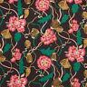 Liberty ~ Trailing Peonies Tana Lawn Fabric / quilting dressmaking floral black