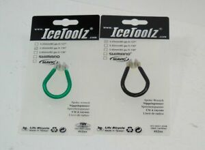 Genuine Lifu IceToolz Spoke Wrench Set, Black & Green, Brand New
