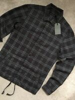 "ALL SAINTS MEN'S BROWN CHECK ""PEORIA"" LONG SLEEVE SHIRT TOP - XS - NEW & TAGS"