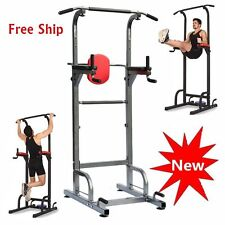 Pull Chin Push Up Bar Tower Dip Station Fitness Exercise Workout Gym Equipment