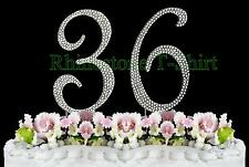 Large Rhinestone NUMBER (36) Cake Topper 36th Birthday Wedding Party Anniversary