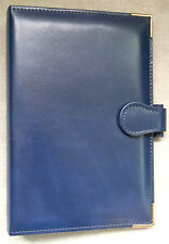 NEW PICCADILLY LEATHER DARK BLUE STANDARD PERSONAL FILE ORGANISER 25mm DIAMETER
