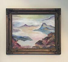 "Swiss Alps 8""x10"" Original Oil Painting Framed Signed Art Home Decor Mountain"