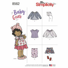 Simplicity SEWING PATTERN 8562 Baby Jacket,Top,Hat,Shoes,Skirt,Leggings XXS-L