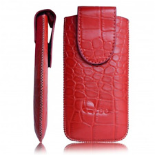 Case in Eco-friendly Leather by Crocodile Red Universal for Nokia N9/N8/800 / A