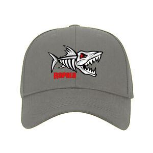 Sport Fishing Hat Rapala Fish Bone Skeleton Graphic Printed Baseball Cap #A