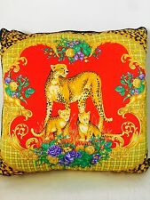 "GIANNI VERSACE CUSHION PILLOW WILD ANIMAL Large 25"" NEW in BAG Retired $1000"