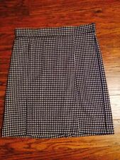 MUST SEE!!  KIM ROGERS BLACK & GRAY HOUNDSTOOTH PENCIL SKIRT!!  SIZE LARGE