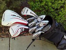 TaylorMade Burner Complete 13pc Golf Club Set + Bag Regular Flex