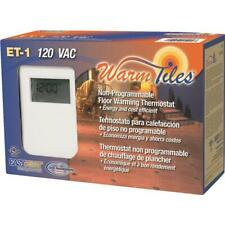 Easy Heat NON-PROGRAMMABLE THERMOSTAT ET-1 Dual voltage White