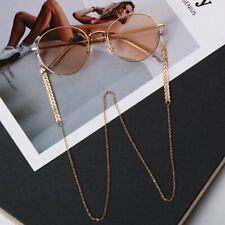 Eyeglass Chain Sunglasses Read Bead Glasses Holder Eyewear Rope Gold Necklace