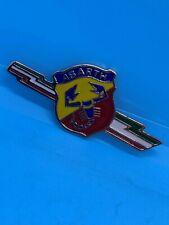 80mm Traditional ABARTH Enamel Metal Side Badge X1/9 Lancia 850 124 131 128 FAZA