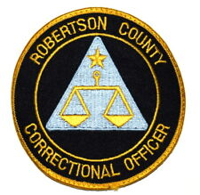 ROBERTSON COUNTY – CORRECTION OFFICER - TEXAS TX Sheriff Police Patch STAR USED