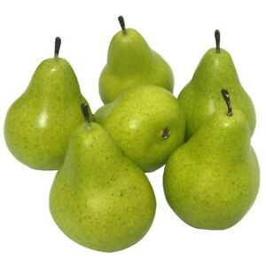 Home Artificial Pear Photography Plastic Fruit Green Lifelike Light weight
