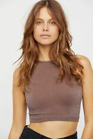 New Free People Womens Seamless Sleeveless Simple High Neck Crop Top Xs-L $20