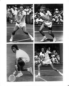 JIMMY CONNORS & BJORN BORG vintage 8x10 photo ORIGINAL '76 CBS GRAND SLAM TENNIS