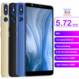 New 2021 Unlocked Smartphone Mobile Phone Andriod Dual SIM 4GB Black Gold Blue