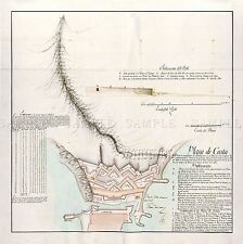 MAP ANTIQUE ARCOS 1797 PLAN ROYAL WALLS CEUTA LARGE REPLICA POSTER PRINT PAM0533