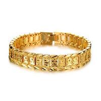Charm Jewelry Watch Fashion Jewelry 18K Gold Plated Men's Gold Bracelet Chain PT