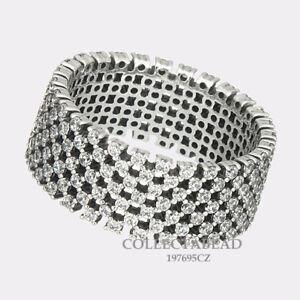 Authentic Pandora Silver Heraldic Check CZ Size 6 Ring 197695CZ-52