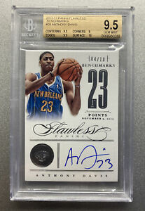 2012 FLAWLESS ANTHONY DAVIS BENCHMARKS AUTO RC #28 BGS 9.5 GEM MINT #/10 LAKERS